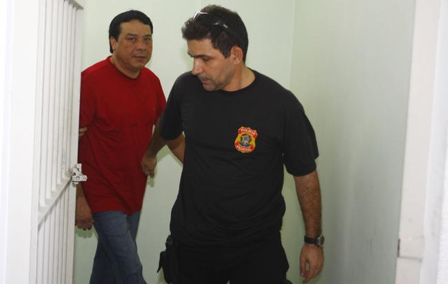 O prefeito afastado de Coari, Adail Pinheiro, está preso em Manaus há mais de seis meses (Foto: Alberto Cesar Araujo)
