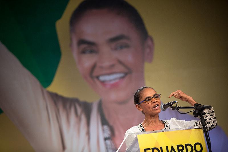 O vídeo mostra o ex-presidente Lula pedindo voto para Marina, mas não era Marina Silva (Foto: Divulgação)