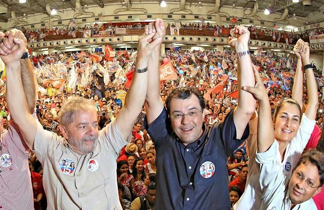 """Lula foi chamado a Manaus para dar uma """"forcinha"""" à campanha de Eduardo Braga (Foto: Ricardo Stuckert/Instituto Lula)"""