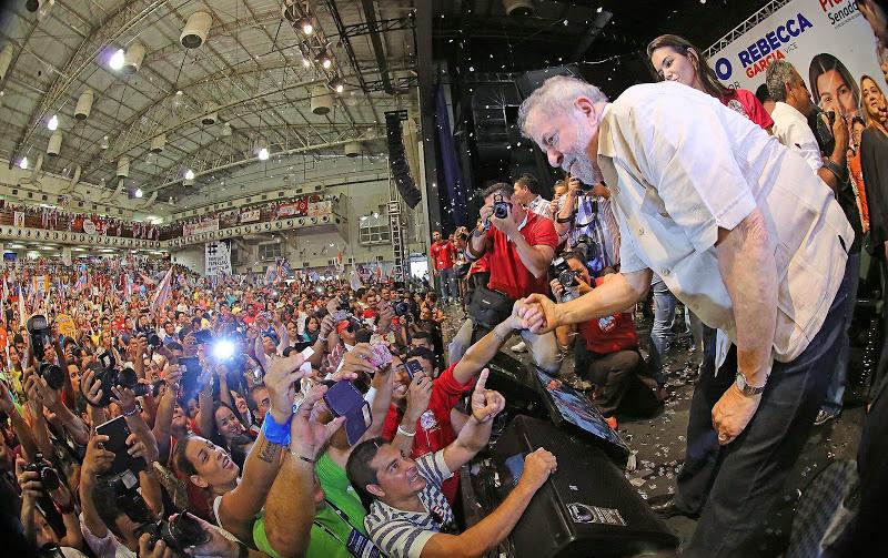 O ex-presidente Lula ficou cerca de três horas em Manaus e seguiu para Campo Grande (Foto: Ricardo Stuckert/Instituto Lula)