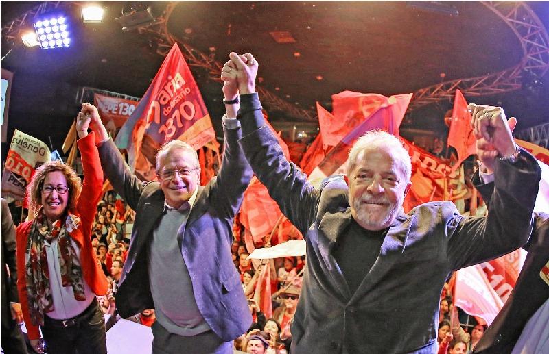 Lula participou de evento com o candidato do PT ao governo do Rio Grande do Sul, Tarso Genro (Foto: Ricardo Stuckert/Instituto Lula)