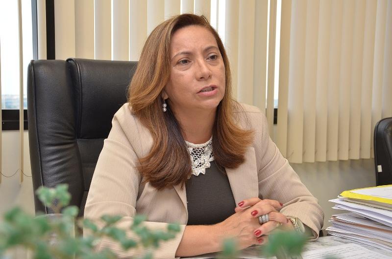 A desembargadora Socorro Guedes, relatora do pedido de intervenção, encaminhou a matéria para a pauta de julgamento há um mês e dez dias (Foto: Divulgação/TJAM)