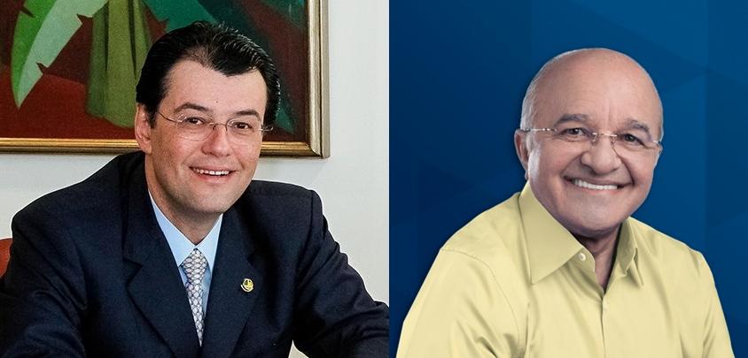 Eduardo Braga e José Melo: briga para liquidar a eleição no primeiro turno ou levar a disputa para o segundo turno (Foto: