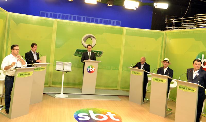 debate em TV tempo
