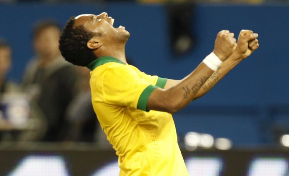 Robinho foi convocado por Dunga para substituir Hulk, que foi cortado por causa de uma lesão (foto: divulgação/CBF