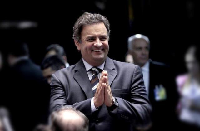 Aécio Neves, que aparece  atrás da candidata Dilma Rousseff em pesquisas de outros institutos, surgiu com larga vantagem no Sensus (Foto: Gerdan Wesley/Divulgação)