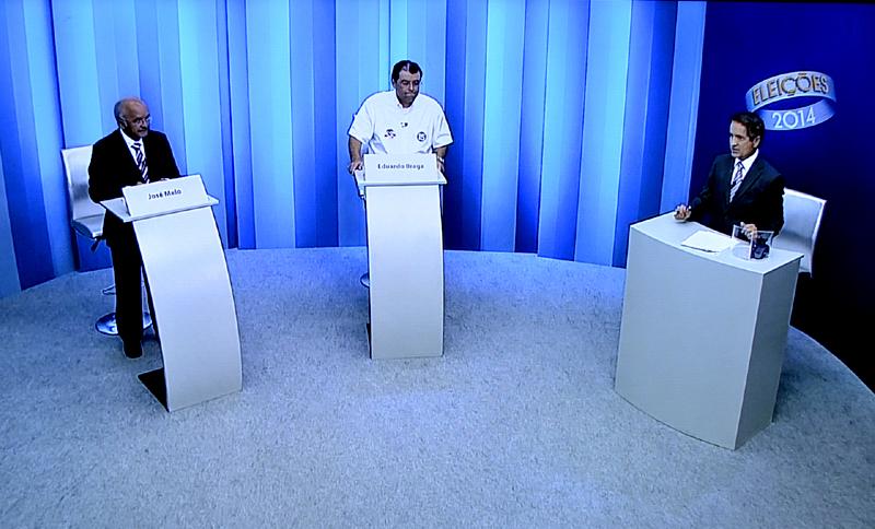 O debate da TV Amazonas teve menos de uma hora de duração, com dois blocos e as considerações finais (Foto: Reprodução)