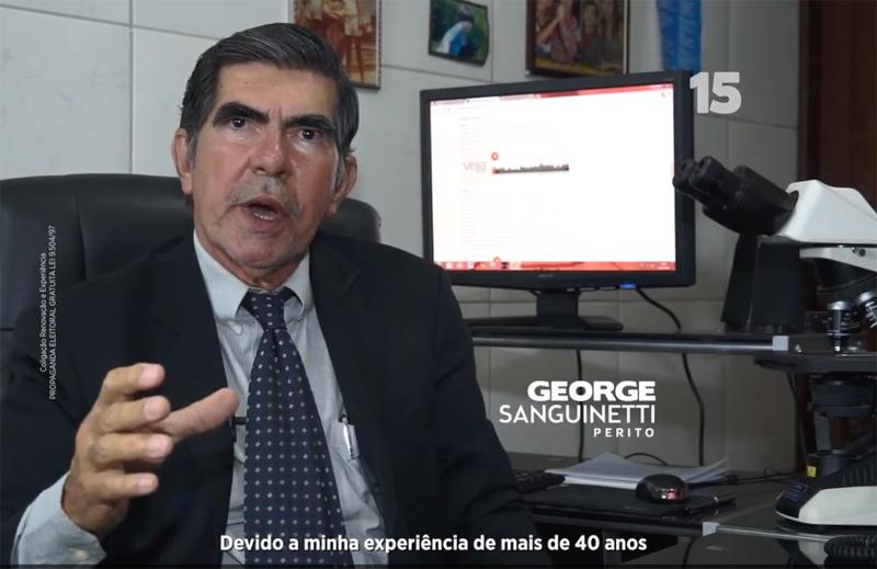 O perito George Sanguineti aparece na propaganda eleitoral de Eduardo Braga e diz que áudios publicados por Veja não foram alterados (Foto: Reprodução)