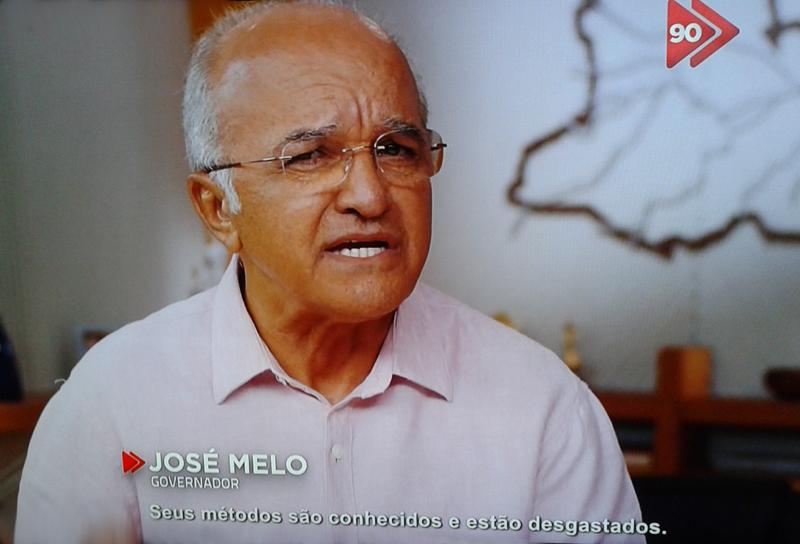 O governador José Melo também afirma que havia corrupção no governo de Eduardo Braga (Foto: Reprodução)