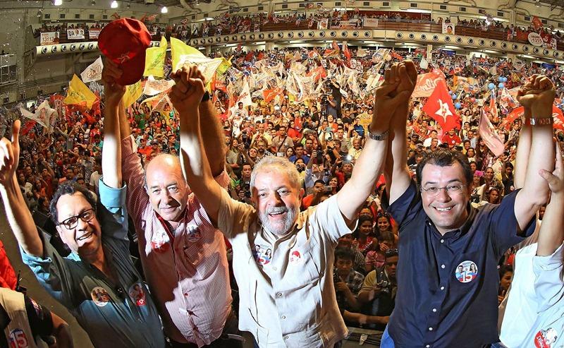 Lula participou de comício no Studio 5, em Manaus, no primeiro turno das eleições (Foto: Ricardo Stuckert/Instituto Lula)