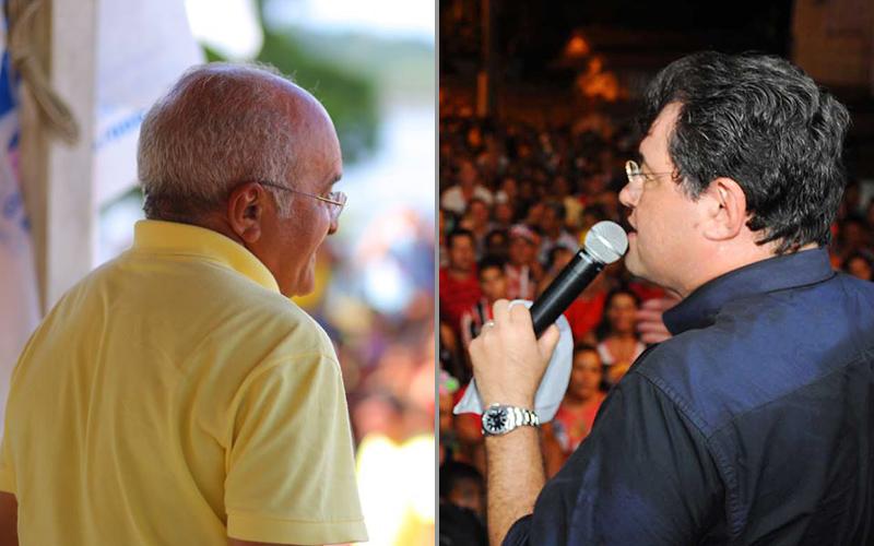 José Melo desconfia das pesquisas enquanto Eduardo Braga diz confiar nos números que mostram empate entre os dois (Fotos: Divulgação)