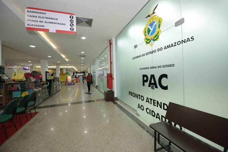 A unidade do Pronto Atendimento ao Cidadão é a segunda na zona leste de Manaus e funciona no shopping Cidade Leste, no bairro Tancredo Neves (Foto: Nathalie Brasil/Agecom)