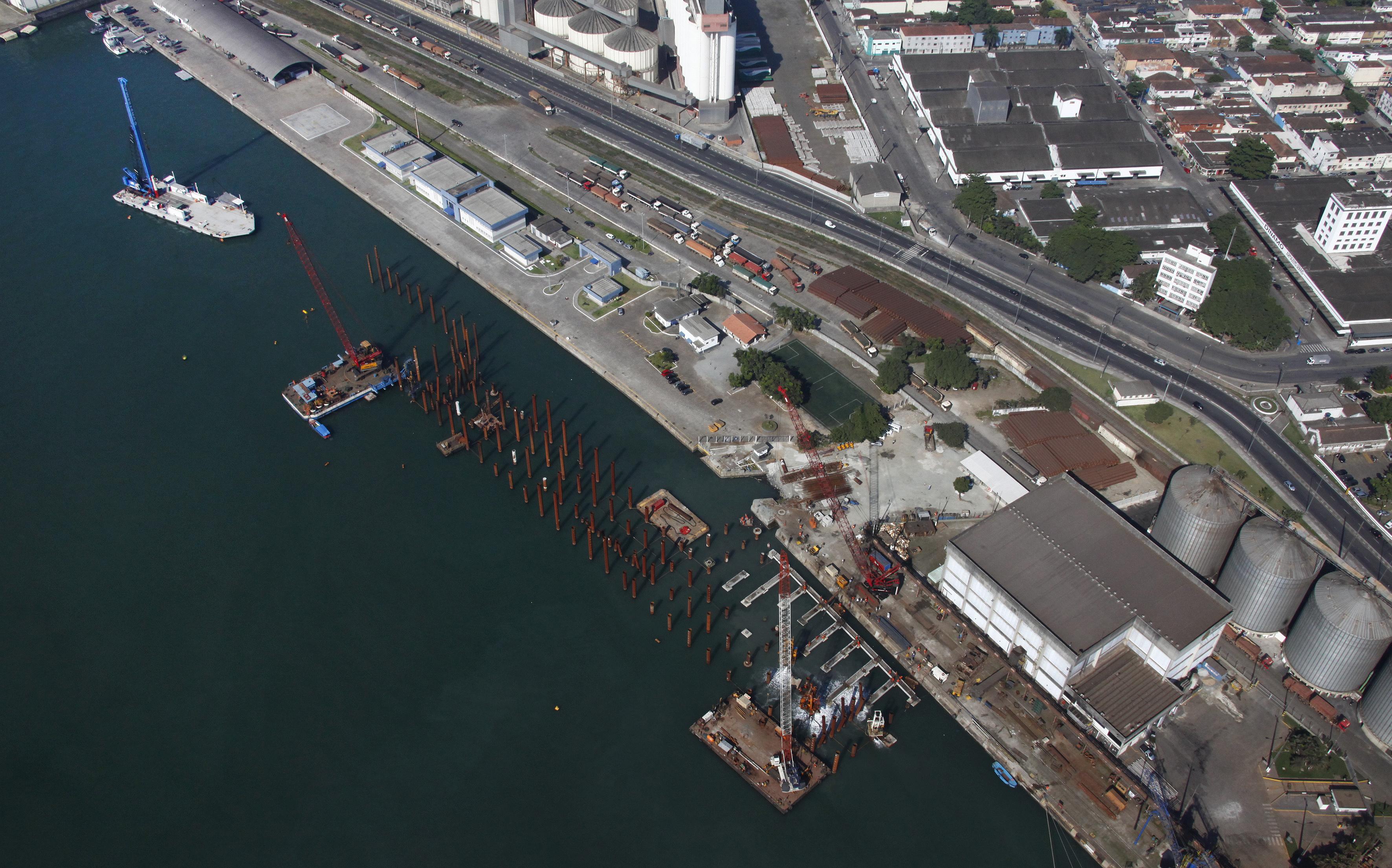 Imagem Aérea Porto de Santos - Codesp