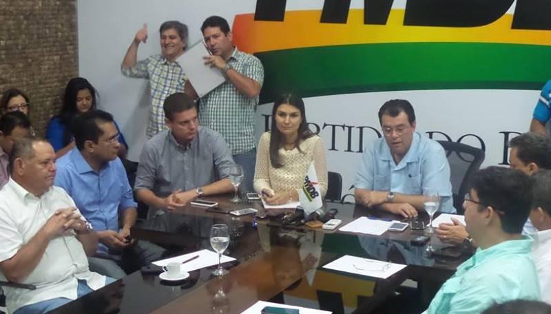O senador Eduardo Braga e a deputada Rebecca Garcia falaram pela primeira vez com a imprensa após a derrota nas urnas, em 26 de outubro (Foto: Divulgação)