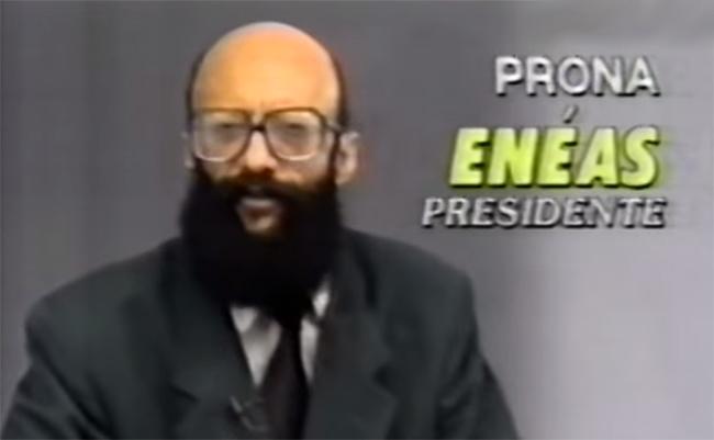 Eneas Carneiro ficou famoso pelo uso dos escassos segundos no horário eleitoral gratuito na TV (Foto: Reprodução)