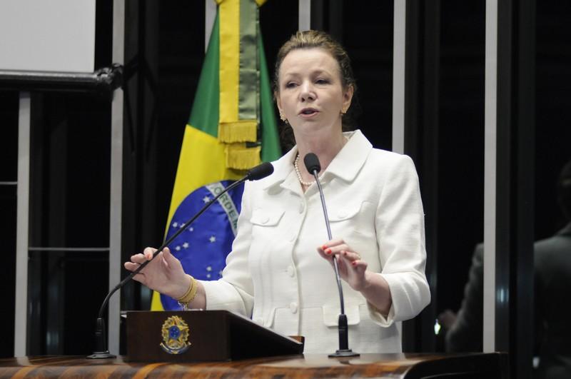 A senadora Vanessa Grazziotin reagiu às queixas do prefeito de que o governo federal virou as costas para a cidade de Manaus (Foto: Alessandro Dantas/Agência Senado)