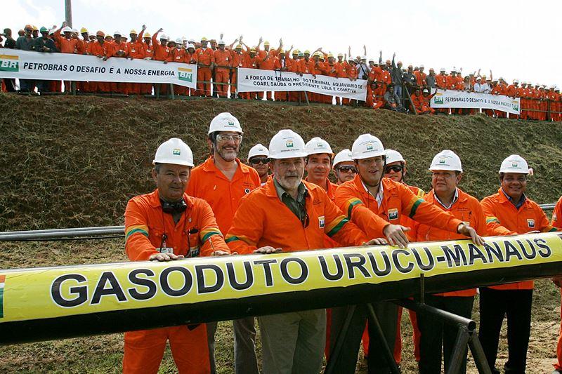 O gasoduto Coari-Manaus, inaugurado por Lula, é uma das obras citadas pelo Ministério Público no esquema de propina (Foto: Divulgação)