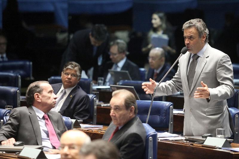 O senador Aécio Neves, presidente nacional do PSDB, assumiu nova postura após as eleições deste ano, quando chegou muito perto da vitória (Foto: George Gianni/PSDB)