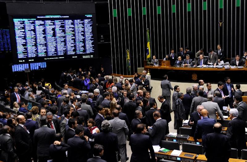 A Câmara dos Deputados noticiou que o plenário aprovou o projeto, mas falta a votação de uma emenda, sem a qual a matéria não pode ir à sanção da presidente Dilma Rousseff (Fotoby Gabriela Korossy/Câmara dos Deputados)