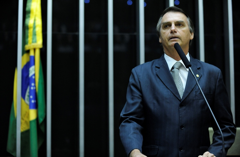 """O deputado subiu à tribuna e disse que não estuprava a ex-ministra dos Direitos Humanos porque ela """"não merece"""" (Foto: Gabriela Korossy/Câmara dos Deputados)"""