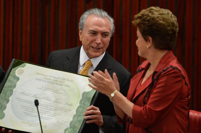 O PMDB, que tem como líder o vice-presidente da República, Michel Temer, ganhou mais um ministério, mas na soma geral, tem menos peso na Esplanada a partir de 2015 (Foto: Valter Campanato/Agência Brasil)