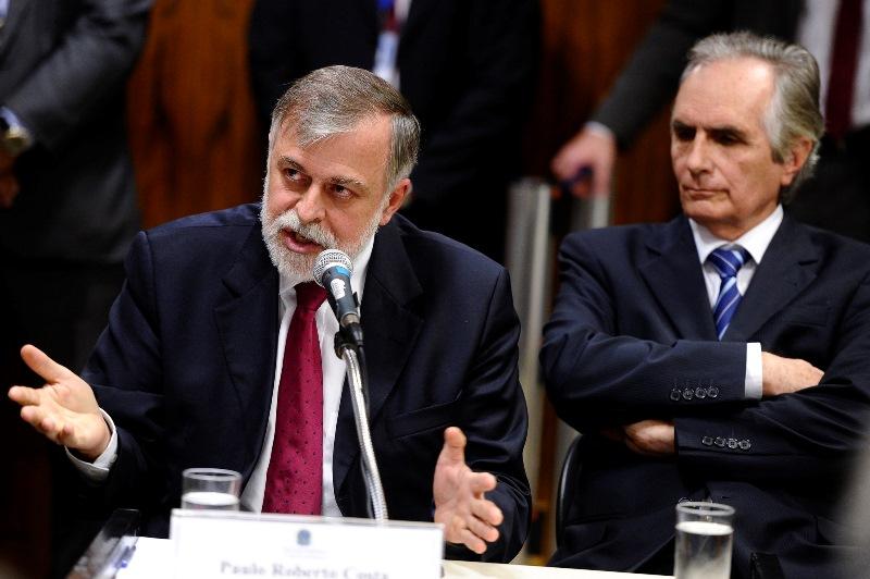 Paulo Roberto Costa (à esquerda) e Youssef (Foto: Jefferson Rudy/Agência Senado)