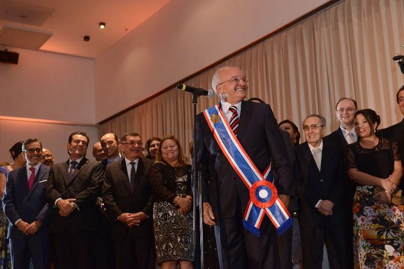 O governador José Melo e o vice-governador Henrique Oliveira foram empossados em solenidade no Centro de Convenções Vasco Vasques (Foto: Herick Pereira/Agecom)