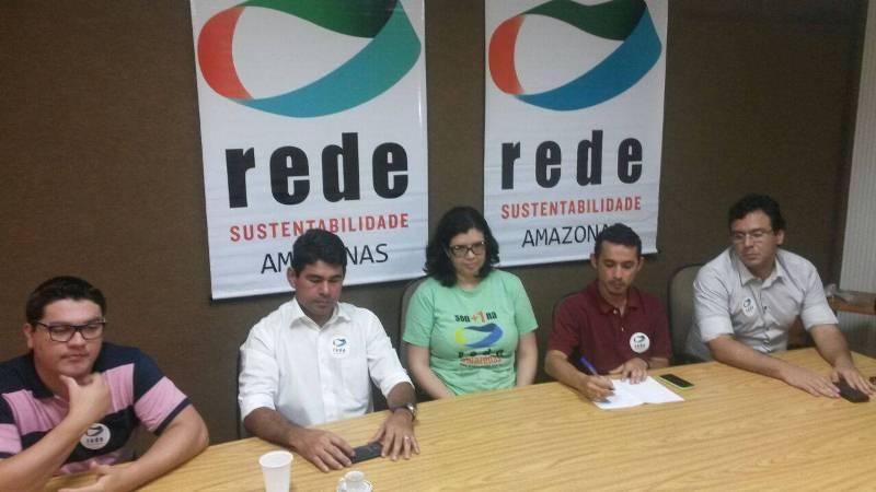 Lideranças da Rede Sustentabilidade concederam entrevista coletiva nesta quinta-feira, na sede da entidade (Foto: Divulgação)