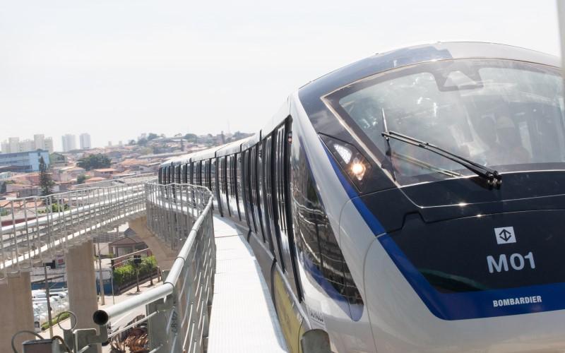 A Linha 15 Prata do monotrilho de São Paulo foi inaugurada parcialmente em agosto do ano passado  (Foto: Guilherme Lara Campos/A2 Fotografia)