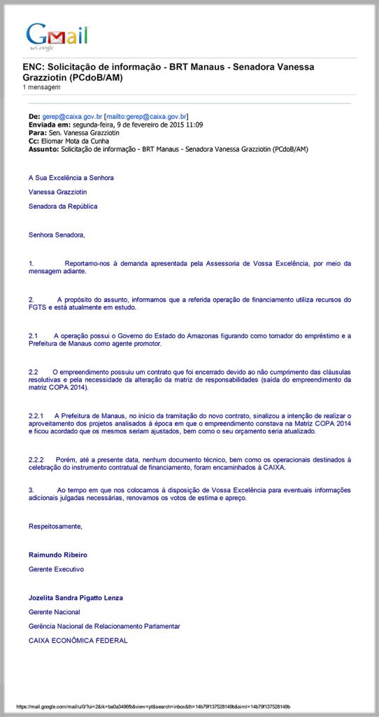 BRT Caixa documento