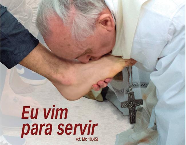 Gesto do papa Francisco será repetido nas celebrações de abertura oficial da Campanha da Fraternidade 2015 (Foto: Divulgação)