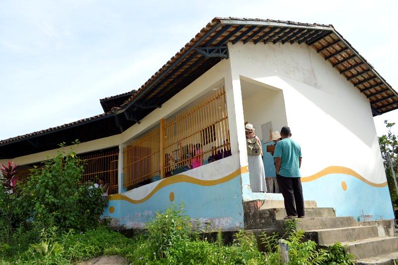Escola Santo Antônio, construída em 1993, ficou pequena para a demanda de estudantes