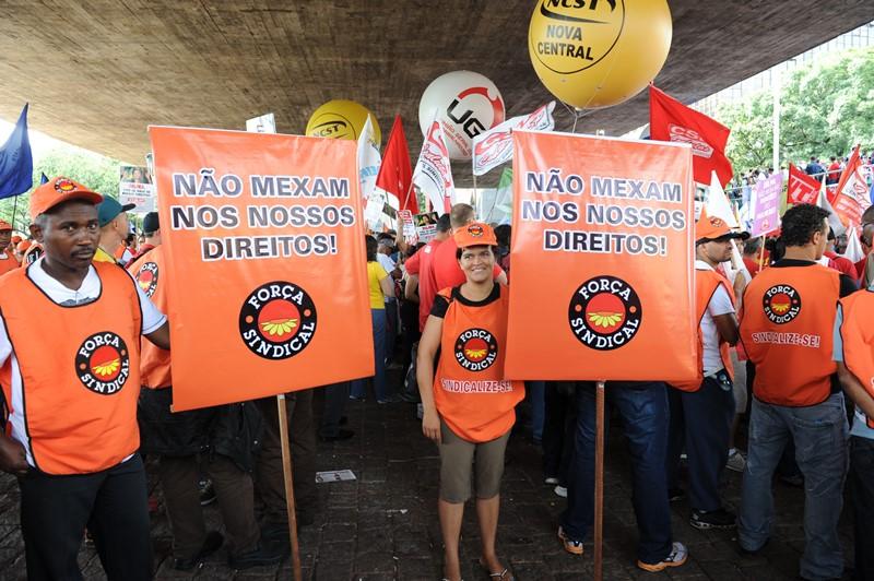 As centrais sindicais lutam para minimizar as medidas adotadas pelo governo no fim do ano passado na Medida Provisória (Foto: Jaélcio Santana/Força Sindical)