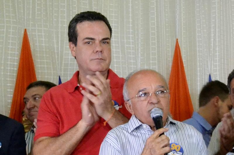 O governador José Melo e o vice-governar Henrique Oliveira foram eleitos no segundo turno em 2014 (Foto: Divulgação)