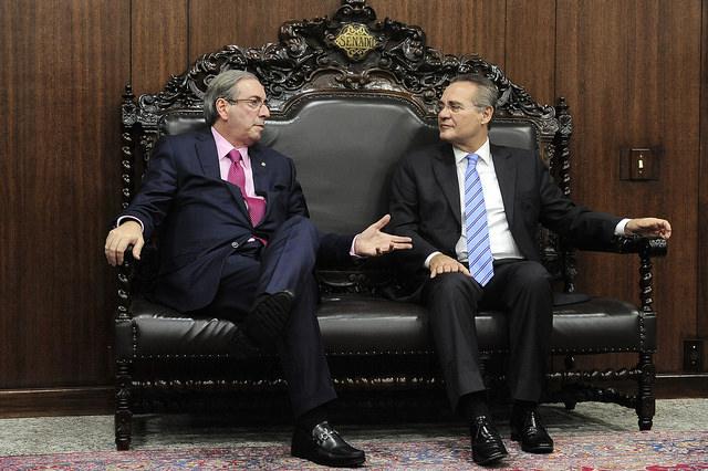 Os presidentes da Câmara, Eduardo Cunha, e do Senado, Renan Calheiros, prometem aprovar uma nova lei caso o governo não se manifeste em 30 dias (Foto: Jonas Pereira/Agência Senado)