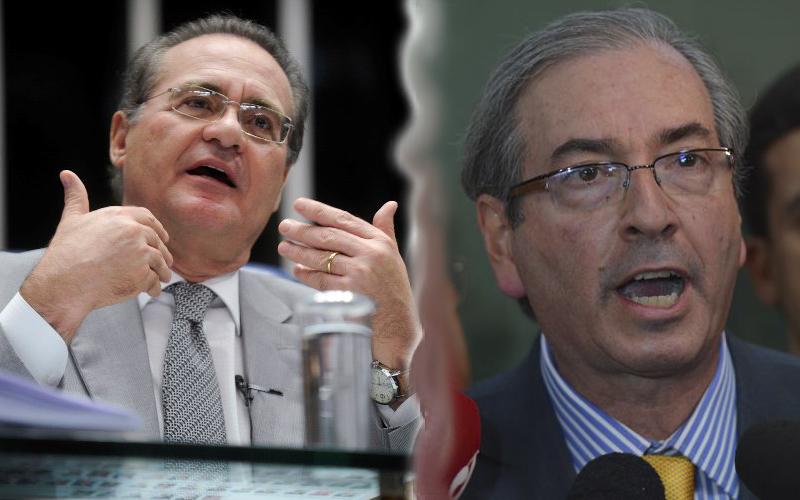 Renan Calheiros será investigado por três crines; Eduardo Cunha, por dois (Foto: Fabio Rodrigues Pozzebom/Agência Brasil)