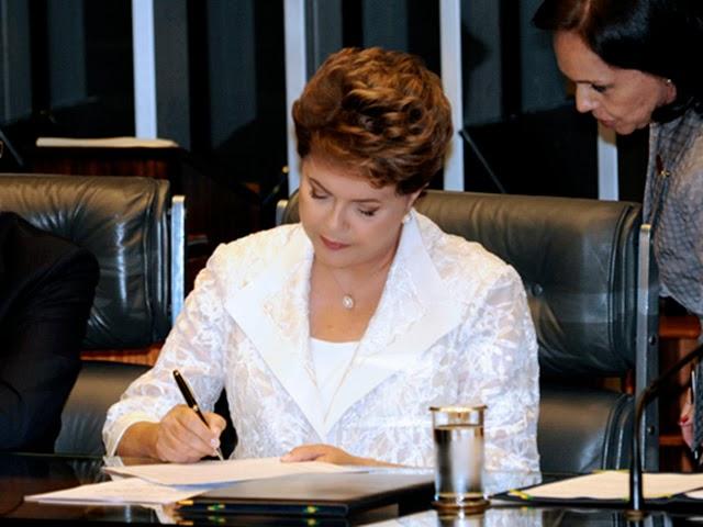 Dilma anunciou a adoção da medida após acordo com senadores e deputados da base aliada. (Divulgaçã/Internet)