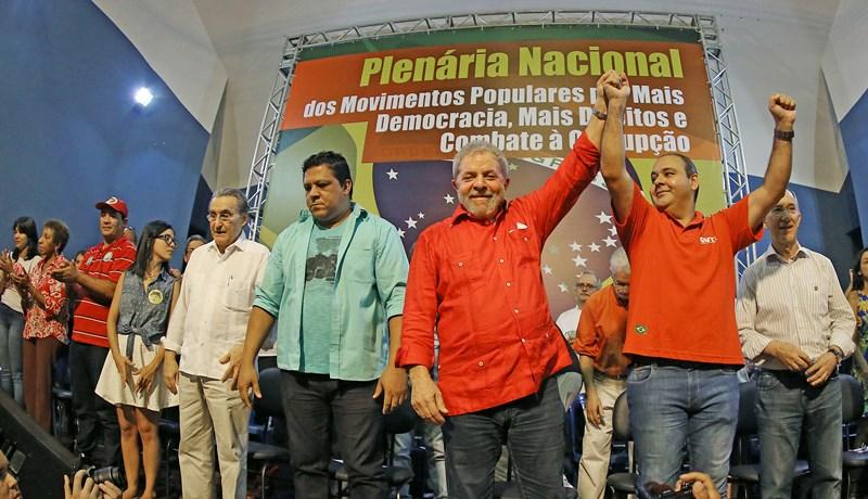 O ex-presidente Lula em evento realizado em São Paulo para discutir o combate à corrupção e em defesa da Petrobras (Foto: Ricardo Stuckert/Instituto Lula)