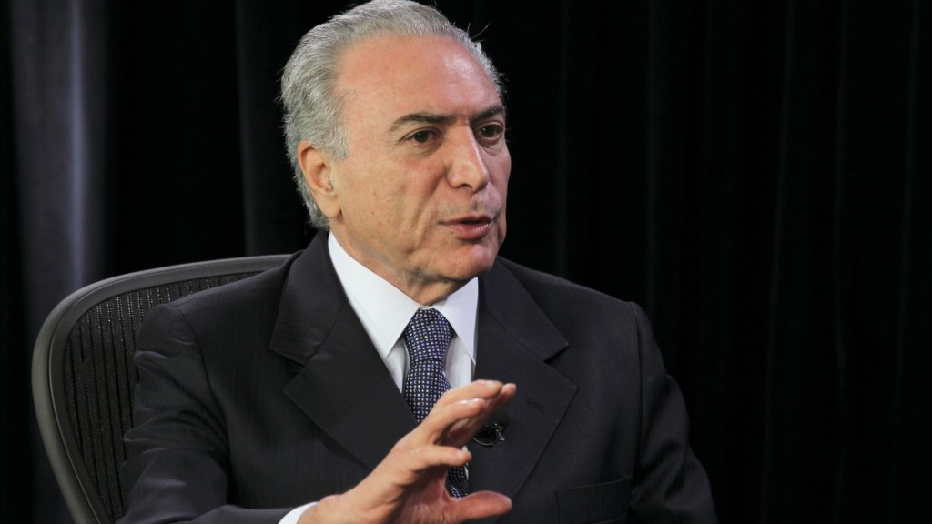 Temer fez as declarações após encerrar o Seminário Empresarial Brasil-Portugal, em que participaram empresários dos dois países. Reprodução/Internet