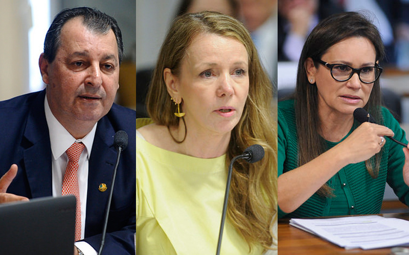 Omar Aziz e Vanessa Grazziotin já tem posição formada; Sandra Braga vai aguardar orientação do partido (Fotos: Agência Senado)
