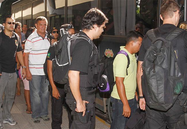 Presos na Operação Cunhantã, deflagrada pela Polícia Federal em 2013, suspeitos de formar um rede de exploração sexual de crianças e adolescentes (Foto: Alberto César Araújo/Amazônia Real)