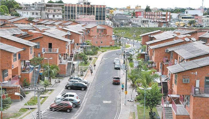 Conjunto habitacional do Prosamim, em Manaus ( Foto: Walter Mendes/ JCAM)