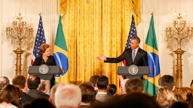 Washington - EUA, 30/06/2015. Presidenta Dilma Rousseff durante Declaração à imprensa  com o presidente dos Estados Unidos da América, Barack Obama (Foto: Roberto Stuckert Filho/PR)