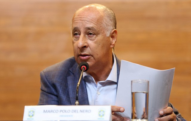 O presidente da CBF, Marco Polo Del Nero, era vice-presidente e assumiu a presidência em