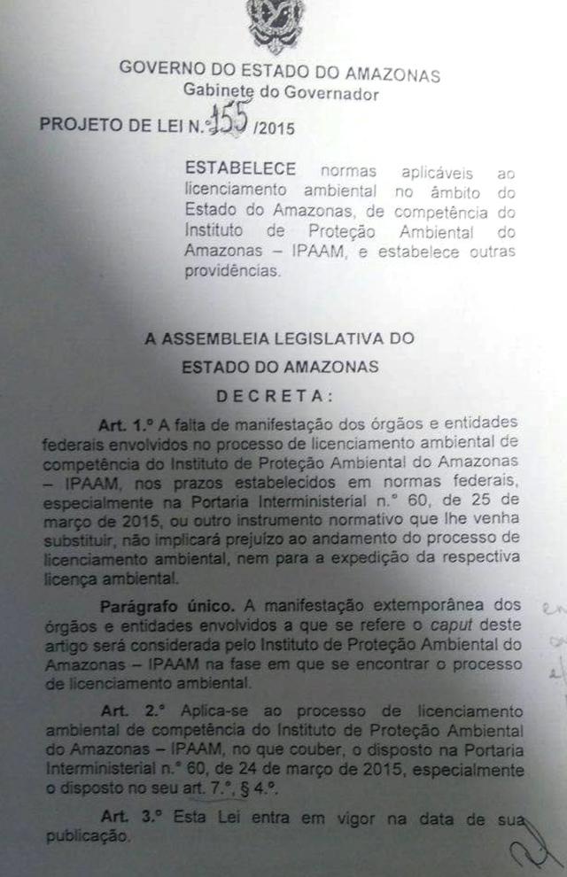 Projeto de Lei meio ambiente 1
