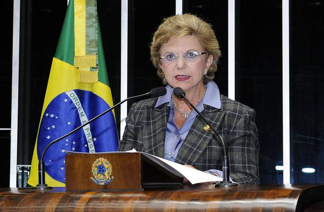A senadora Lúcia Vânia foi a primeira a deixar o partido: saiu do PSDB e deve ingressar no PSB (Foto: Waldemir Barreto/Agência Senado)