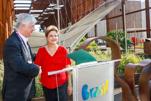 Milão - Itália, 11/07/2015. Presidenta Dilma Rousseff, durante visita ao Pavilhão Brasil na Expo Milão 2015. Foto: Roberto Stuckert Filho/PR
