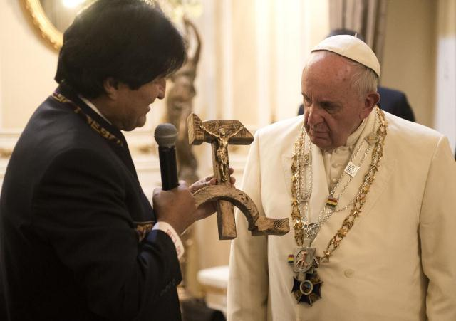 Evo Morales e Papa Francisco