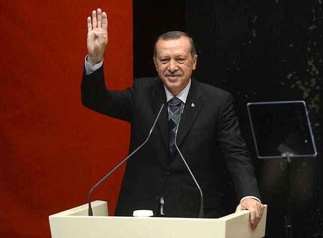 Presidente Turquia Erdogan Rabia
