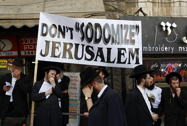 ortodoxos parada gay jerusalem Foto Reprodução